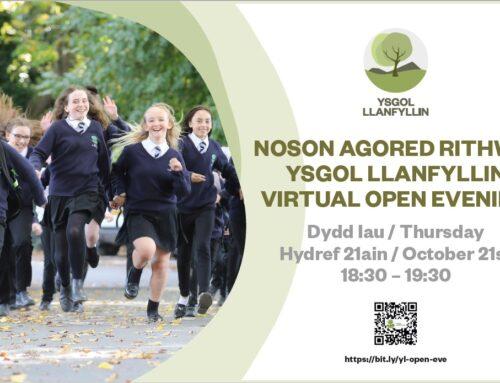 Noson Agored Rithwir / Virtual Open Evening
